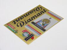 DIAMANT Decals Sticker Dekor 5-teilig Set Luxus Sport 60er DDR Aufkleber gold