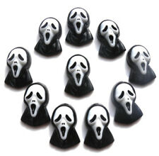NUOVO!!! 10 Halloween Scream Maschera SPLENDIDA Flatback Cabochon in Resina-GRATIS P&P