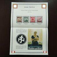 Germany Nazi 1944 STAMPS MINT Mother & Child WWII Third Reich Deutschland German