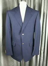 """Blazer Navy Wool Blend Gold Buttons by Chums Machine Washable C40"""""""