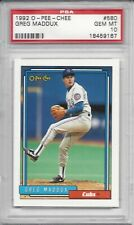1992 O-Pee-Chee OPC #580 Greg MADDUX - PSA 10+++ HOF Cubs