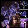 "24"" LED Lights BoBo Transparent Balloons Wedding Birthday Christmas Party Decor-"