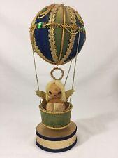 "VTG Music Box Angel Fancy Doll In Rotating Hot Air Balloon 12"" High Works Japan"