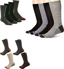 Timberland Mens 4 Pack Outdoor Leisure Crew Socks Black Brown Grey 4 Pair Large