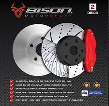 50% OFF DRILLED & SLOTTED Commodore VT VU VX VY VZ Rear Disc Rotors Holden 41DS