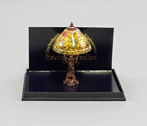 9911009 Reutter Puppenstuben-Miniatur Porzellan Lampe Tiffany-Art