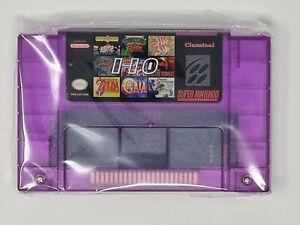 110 in 1 NINTENDO SNES Best Games Cartridge 16 Bit Multicart NTSC US SELLER