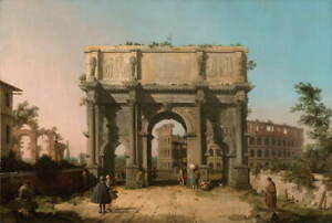 Canaletto View of the Arch of Constantine Giclee Canvas Print Poster LARGE SIZE