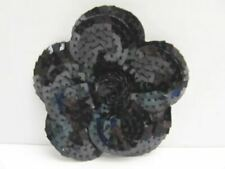 Chanel Christmas Black Sequin Camellia Flower 2010 Sticker Make Pin or Brooch