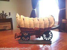 Antique Cast Iron Western Wagon Painted Doorstop