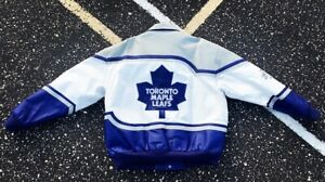 Vintage 1999 NHL Toronto Maple Leafs Jeff Hamilton Deadstock Jacket Rare BNWT