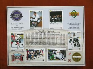 Upper Deck 1991 The Silver Season Los Angeles Kings 25th Anniversary Promo Sheet