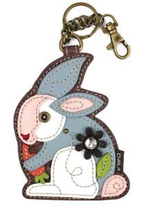 Chala Bitty Bunny Rabbit Whimsical Key Chain Coin Purse Bag Fob Charm