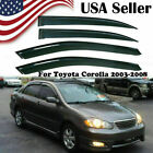 For Toyota Corolla 2003-2008 2004 2005 2006 2007 Window Visors Sun Rain Shades