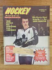 Hockey Pictorial December 1971 NORM ULLMAN TORONTO MAPLE LEAFS Magazine