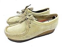 Clarks Originals Wallabee Women's 6.5 M Beige Suede Lace Ups Oxfords Shoes