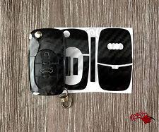 Negro Brillante De Fibra De Carbono Cubierta De Envoltura clave remoto AUDI A1 A3 A4 A5 A6 A8 TT Q3 5 Q7