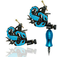 BLUE SCORPION PROFESSIONAL TATTOO MACHINE for power supply gun clip cord