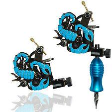 MÁQUINA de tatuaje profesional de escorpión azul para poder pistola clip cable de alimentación