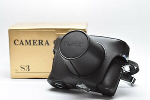 [UNUSED IN BOX] NIPPON Kogaku Nikon S3 Genuine Camera Leather Case Strap JAPAN