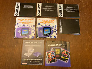 Nintendo Gameboy GBA SP Manuals & Inserts H/AGB-USA, T-AGB, C/AGB-USA-2, Replace