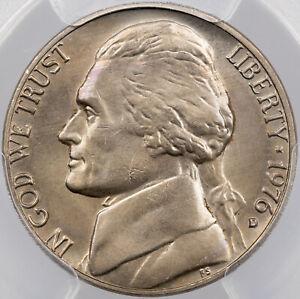 1976-D U.S 5 CENTS JEFFERSON NICKEL PCGS MS64 AMAZING GEM CHOICE BU UNC (MR)