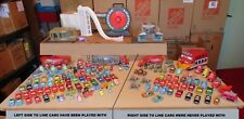 Disney Pixar Cars Lot of 126, 2 Buildings, 2 Car Cases, 1 Ramp & 1 Key Chain