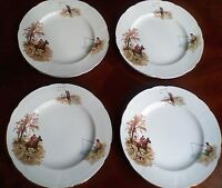 "Alfred Meakin country life 7.6"" diameter plates set of 4"