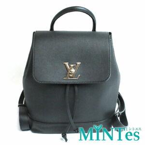 Auth Louis Vuitton Rock Me Backpack Rucksack M41815 Noir Black Calf Leather Blac