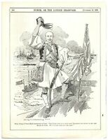 Prince George of Greece Installed, Ottoman Turkey Loses Crete Punch Cartoon `18P