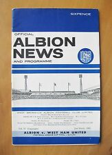 WEST BROMWICH ALBION v WEST HAM UNITED League Cup Final 1966 Exc Cond Programme
