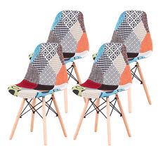 Pack 4 Sillas de comedor Patchwork Eiffel diseño nórdico retro estilo Rojo RD01