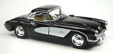 1957 Chevrolet Corvette C1 schwarz/weiß Sammlermodell 1:34 von KINSMART Neuware!
