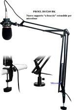 PROEL DST260 ASTA da TAVOLO per Microfono da Studio CON BRACCIO ESTENSIBILE