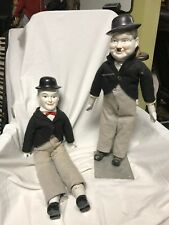 Laurel And Hardy Porcelain Hand-painted Dolls
