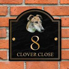 Greyhound House name sign, Personalised House Number Plaque, Dog House Plaque