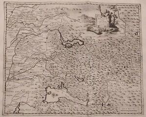 1722 Peter Van der Aa Mappa Brescia Crema Brixiae Atque Cremae Territorium