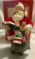 """THC 7"""" Handcrafted Fabric-Mache 1993 Santa Claus Christmas Collectible #96661"""