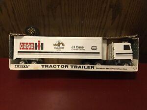 "Ertl JI Case IH Tenneco Tractor Trailer Semi Still In Box 1/25 1993 19""."