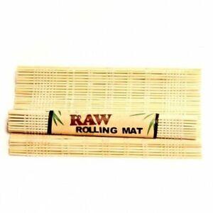 GENUINE RAW Bamboo Rolling Mat - Natural Smoking Cigarette Rolling Mats 90x130MM