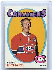 1971-72 TOPPS HOCKEY #120 HENRI RICHARD, MONTREAL CANADIENS, 030416