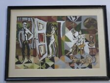 MID CENTURY MODERN PAINTING ABSTRACT CUBISM MODERNISM EXPRESSIONIST PICASSO ERA