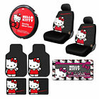 10pc Sanrio Hello Kitty Core Car Floor Mats Steering Wheel Cover Seat Covers