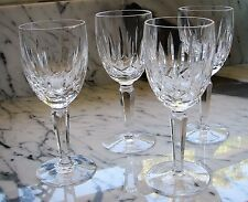 Vintage WATERFORD Crystal Kildare Claret Wine Glass stemware set of 4 Ireland