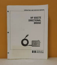 Hp 85027 90014 85027e Directional Bridge Operating Amp Service Manual