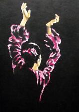 Flamenco Dancer 3: giornaliera IMPRESSIONISTA ORIGINALE Pittura ad Olio da Terry Wylde