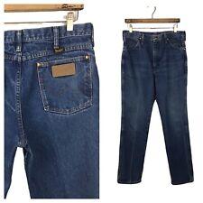 1980s Wrangler Denim Jeans / 80s Dark Blue Distressed Jeans Pants / Men's 33x32