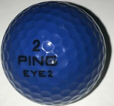 1 (One) Vintage Two Tone Ping Eye 2 Dark Blue & White Golf Ball (D-3-11)