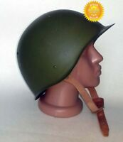 Original USSR Russian Military Soviet Army WWII SSh-68 type Steel Helmet Used