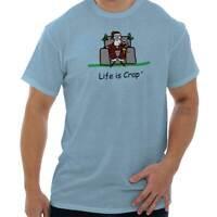 Life is Crap Santa Lap Funny Christmas Gift Mens Short Sleeve Crewneck Tee